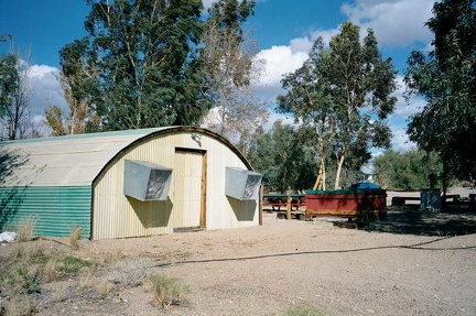 The shower building (quonset hut) at Nipton