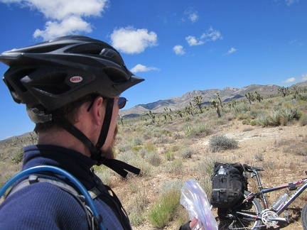 It's time for a short break to enjoy the solitude of Sagamore Canyon Cut-Off Road without the noise of the 10-ton bike
