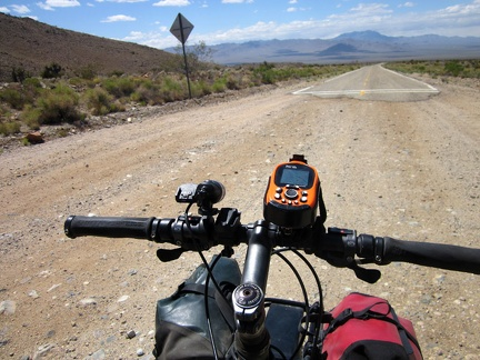 I arrive at the beginning of the pavement on Ivanpah Road