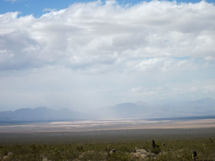 Hmmm... it looks like some light rain is falling further over in Ivanpah Valley