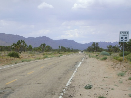 I depart Cima and ride down Morning Star Mine Road, one of Mojave National Preserve's main, high-speed, paved roads