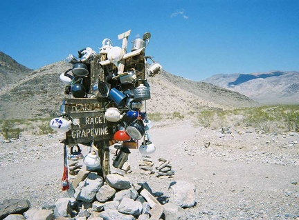 No Death Valley backroad trip is complete without a photo of the tea kettles at Teakettle Junction