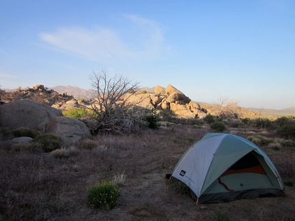 Sunset at Pinto Valley inevitably results in another tent-advertisement photo