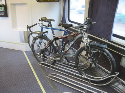 Yesterday, I took the Amtrak San Joaquin train with my bicycle down California's Central Valley