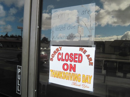 A 24-hour donut shop on Barstow's Route 66 is closed due to the water contamination