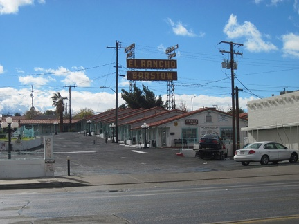 El Rancho Barstow is one of many older motels along Route 66 in central Barstow