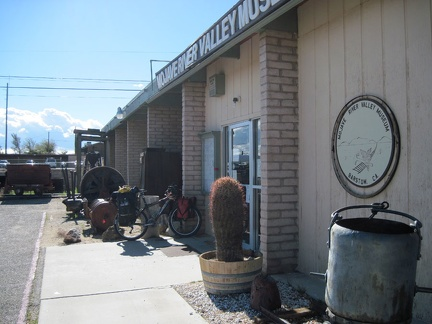 I stop in at Barstow's Mojave River Museum for a quick visit before riding on toward Ludlow