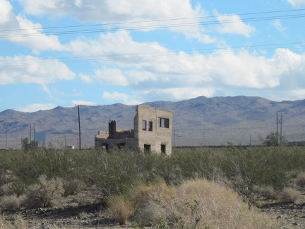 As I approach the Daggett area, I notice this crumbling concrete structure not far from old Route 66