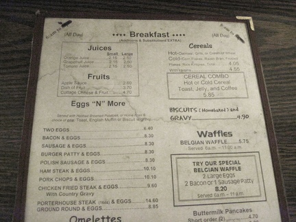The water-stained menu in my room at the Ludlow Motel advertises the offerings of the Ludlow Café next door