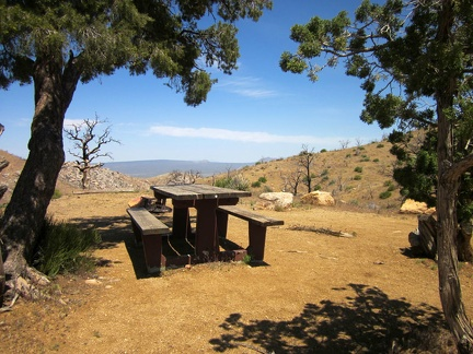 "I walk over toward the campground's overlook and stop at the campsite where ""the other bicyclist"" said he was camping"