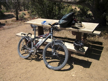 It's time to prepare the bicycle for a ride down to Hole-in-the-Wall campground, where I can recharge my cell phone