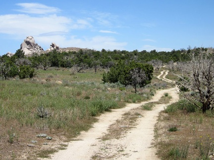 On the way down Wild Horse Canyon Road, I pass the little road that leads to the Eagle Rocks area