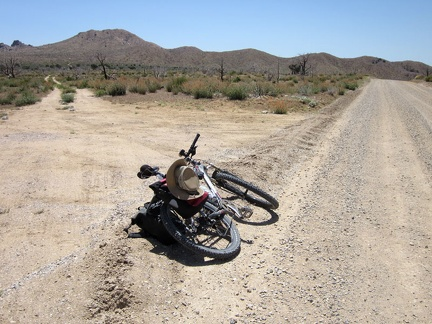"After a couple of miles, I reach the smaller ""Gold Valley Road"" on my left and leave Wild Horse Canyon Road"