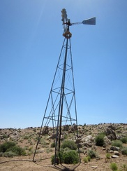 On the way down the hill, I stop at the windmill and water tank near Gold Valley Spring