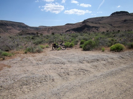 I pull over at a turn-out on Wild Horse Canyon Road, stash the bicycle in the bushes and begin the hike