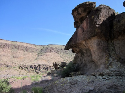 Dramatic rock erosion at the entrance to Saddle Horse Canyon