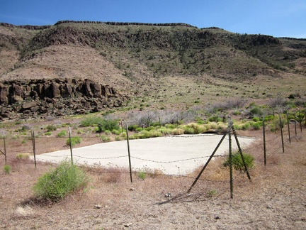 At the mouth of Saddle Horse Canyon is a guzzler (a pad of concrete), dry right now due to lack of rain