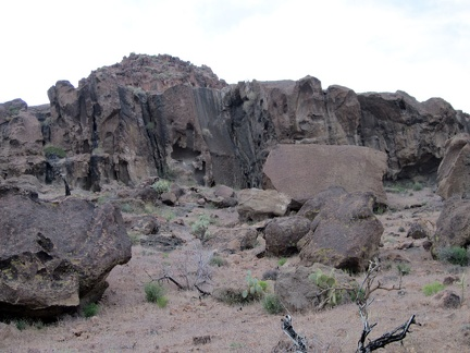 The rocks at the mouth of Saddle Horse Canyon are more interesting than further up the canyon