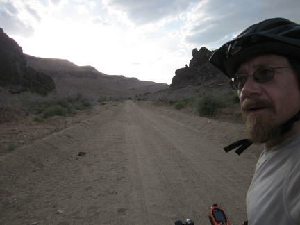 I start riding up Wild Horse Canyon Road, the lower part of which is washboarded and sometimes sandy