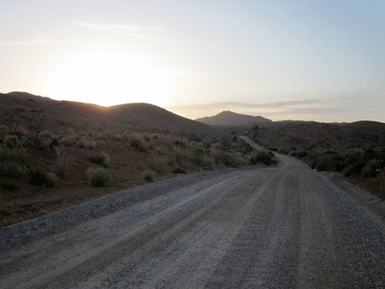 A car passes me along this stretch of Wild Horse Canyon Road, the only one I'll see on the way back to camp