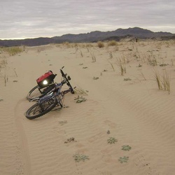 Day 4: Mountain-bike ride across Devil's Playground to Sands, California and back, Mojave National Preserve