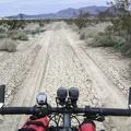 Crossing a dry mud flat near Sands on the way back across Devil's Playground