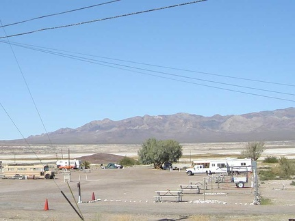 Tecopa Hot Springs campground is not very busy right now