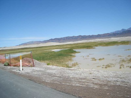 There's still some water in this end of Grimshaw Dry Lake
