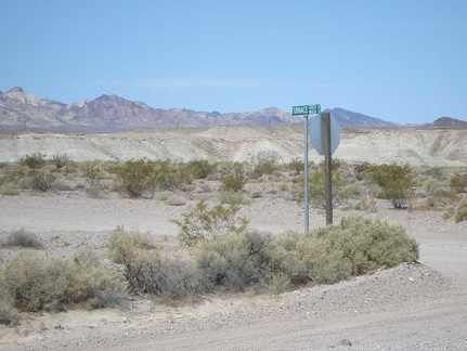 I pass Furnace Creek Wash Road, which would be a shortcut to where I'm going today, except...