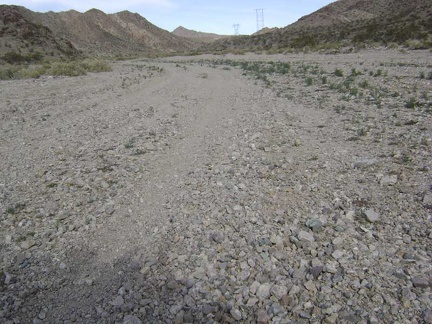 Gravel on lower Jackass Canyon Road