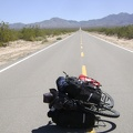 Heading across the valley on Ivanpah Road, the road is big, empty and quiet
