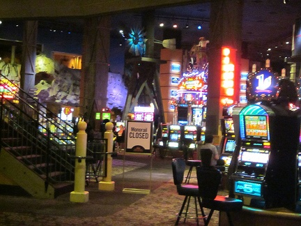 The casinos at Primm are quite a visual spectacle, with brilliant lights everywhere