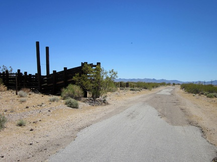 I pass an old corral on Nipton-Desert Road