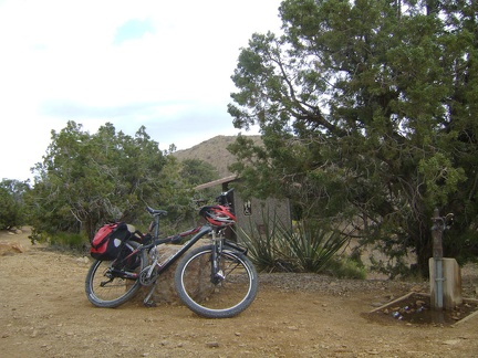 I get ready to leave Mid Hills campground for a ride down Wild Horse Canyon Road