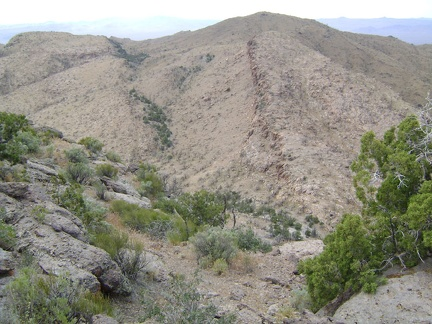 A canyon just west of Wild Horse Mesa looks like a promising route downward