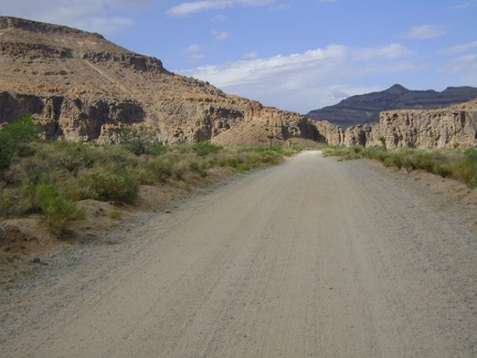 The washboard surface of the south end of Wild Horse Canyon Road makes for a rough ride