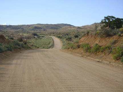 Black Canyon Road is often straight, but it meanders when passing through Black Canyon