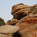 Pancake Rock and the hungry orange lichen monster
