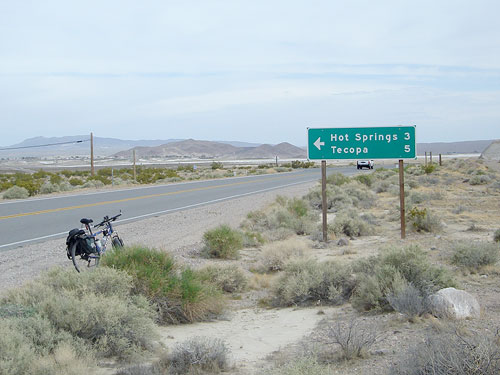 Return to Tecopa Hot Springs from Shoshone: Bicycle ...